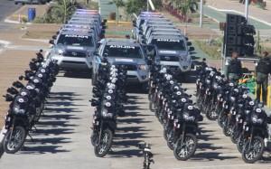 Mij entrega 20 patrullas y 33 motos a polic a de sucre for Ministerio de relaciones interiores espana