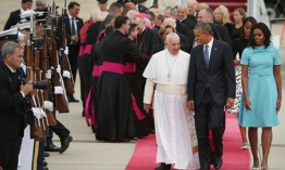Presidente Barack Obama recibió al Papa Francisco en Washington