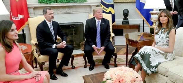 Trump recibe a los reyes felipe y letizia en la casa - Casa de los reyes de espana ...